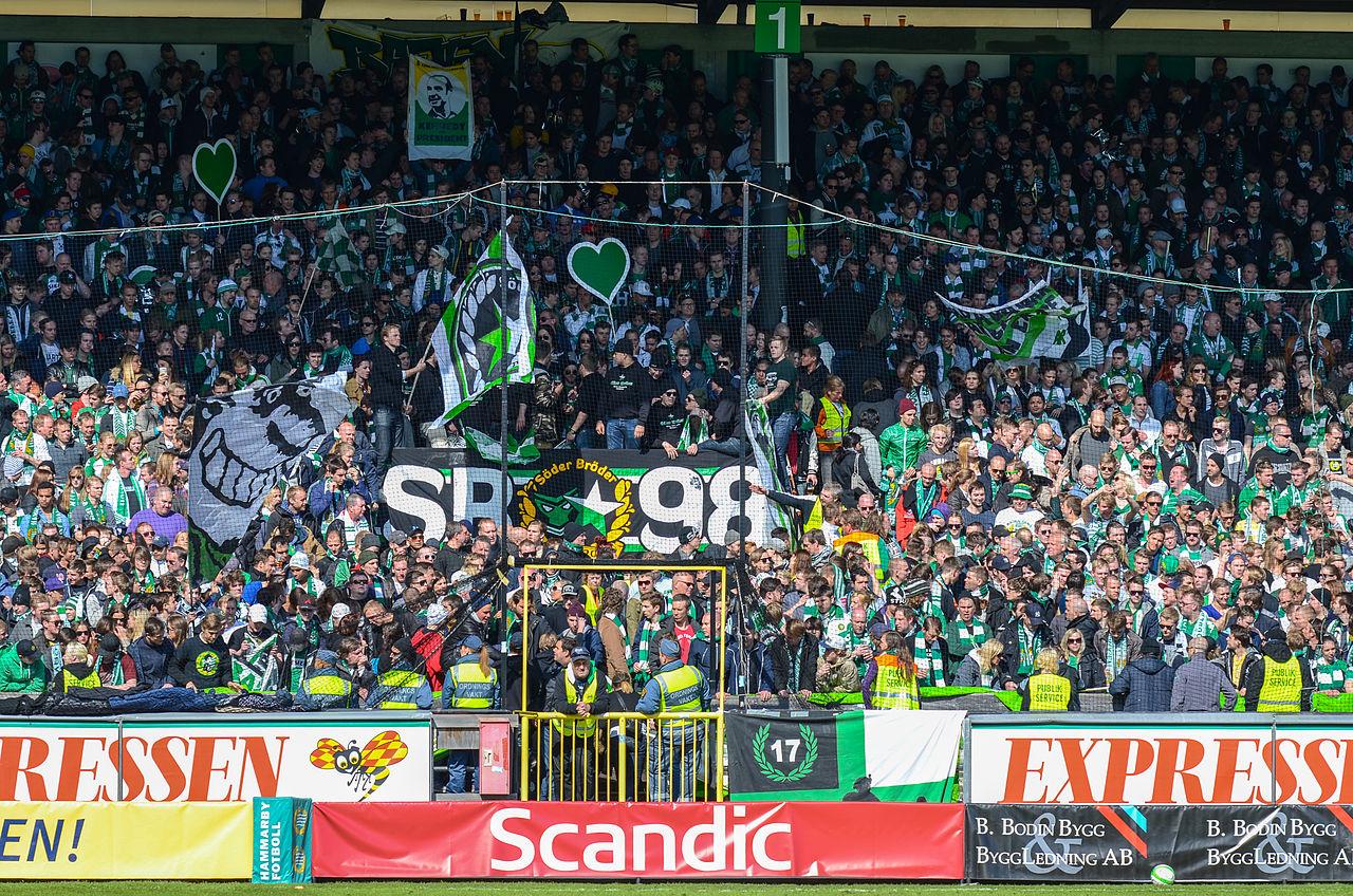 Svenska fotbollsklubbar med många fans – Hammarby FF
