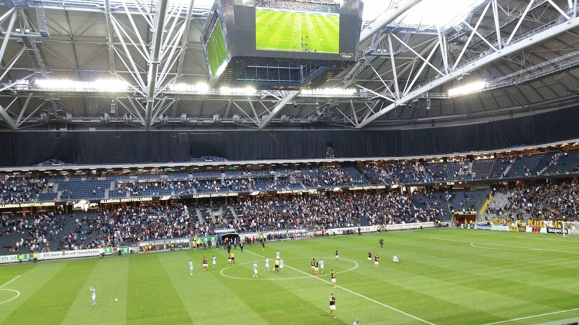 Svenska fotbollsklubbar med många fans – AIK